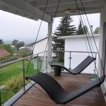 Schwebeliege mit Deckenmontage rund und drehbar