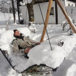 Die Doppelliege MOCCA im Winter im Frienerhof
